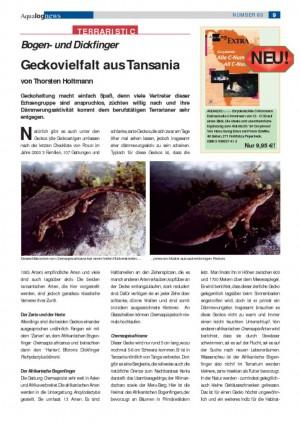 thumbnail of Geckovielfalt aus Tansania